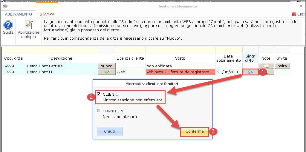 Fatturazione Web: rilascio e sincronizzazione anagrafiche clienti - 6