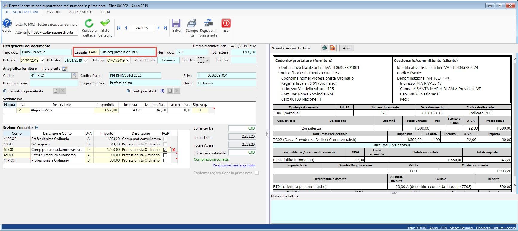 Importazione Fatture Elettroniche XML in Prima Nota: rilascio applicazione - 6