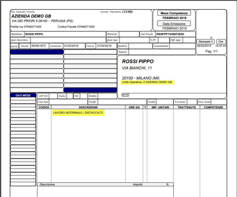 Paghe GB Web 2019: Distacco di personale tra le imprese - 6