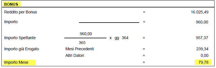 Paghe GB Web 2018: Bonus D.L. n. 66/2014 - 6