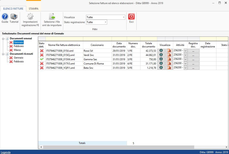 Caso pratico: Registrazione fatture elettroniche prodotte con altri software - 6