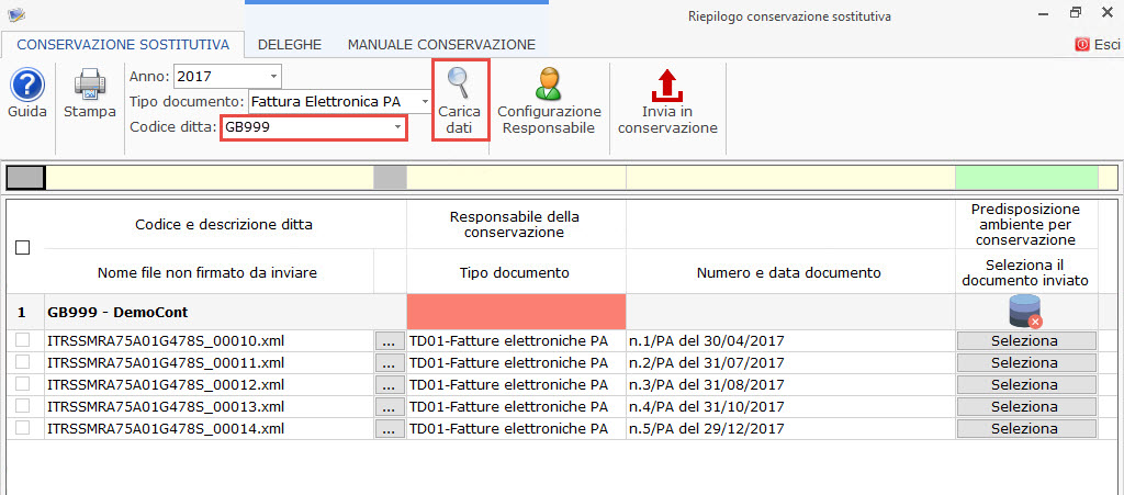 Conservazione file 2017 Dati Fatture, Liquidazioni Iva e Fatture elettroniche PA 2017: rilascio applicazione - 5