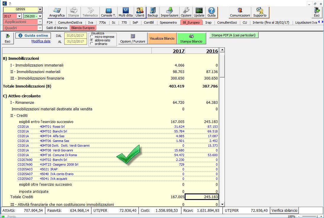Caso pratico: Saldo del conto non corretto nel Bilancio Europeo - 6