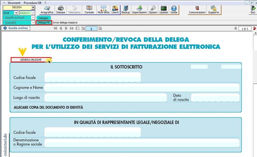 Software Conferimento Delega Fatturazione Elettronica - 6