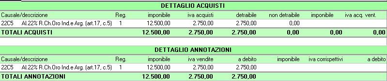 Liquidazione Iva acquirente