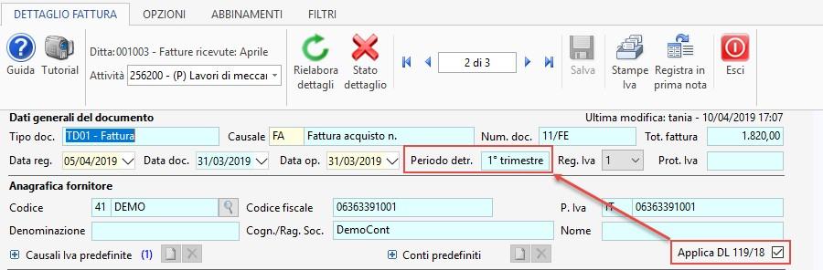 Caso pratico: Periodo IVA detraibile - 7