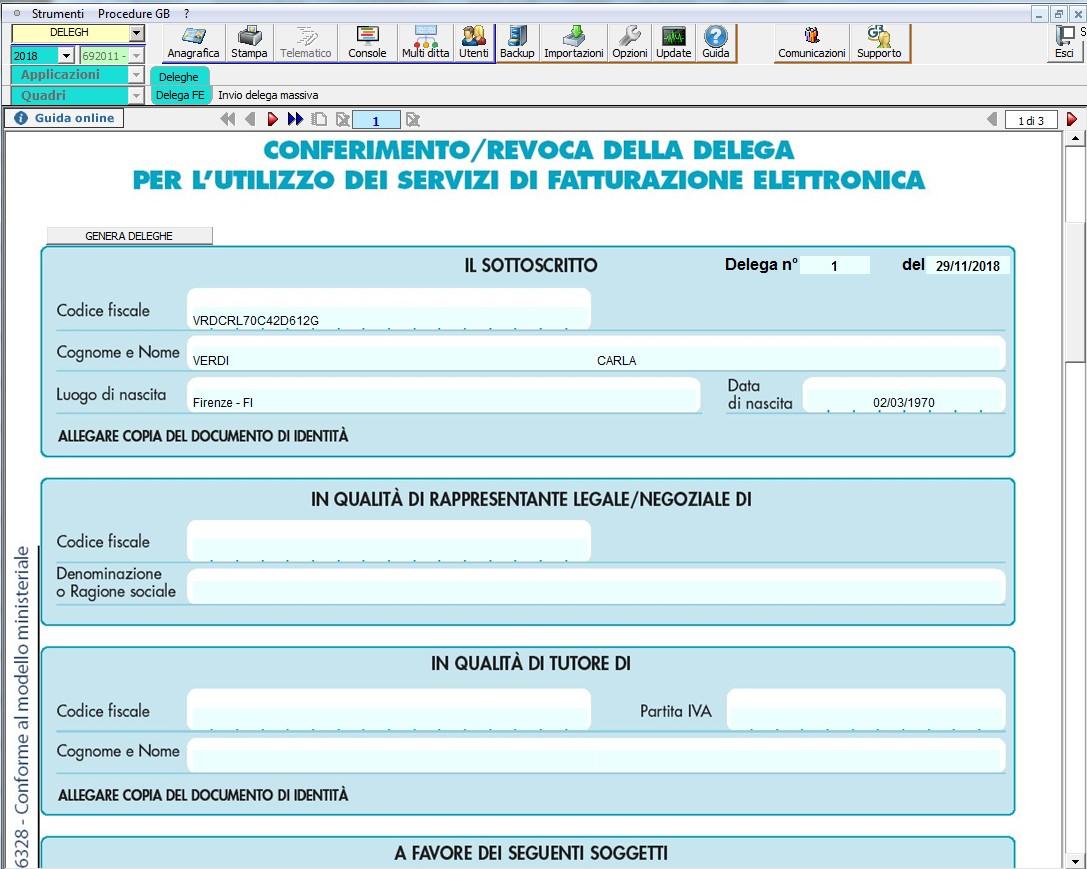 Conferimento Delega Fatturazione Elettronica: nuova gestione - 7