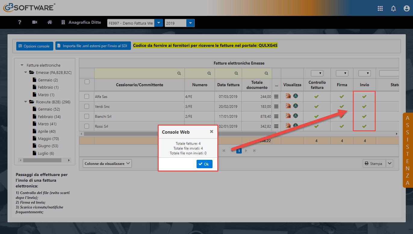 Console Web 2019: scarico automatico ricevute e operazioni multiple - 7