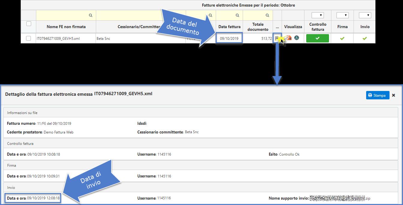Fatture: data documento e termini d'invio - 7