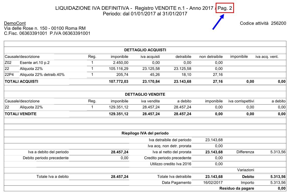Registri IVA: stampa con Liquidazione - 7