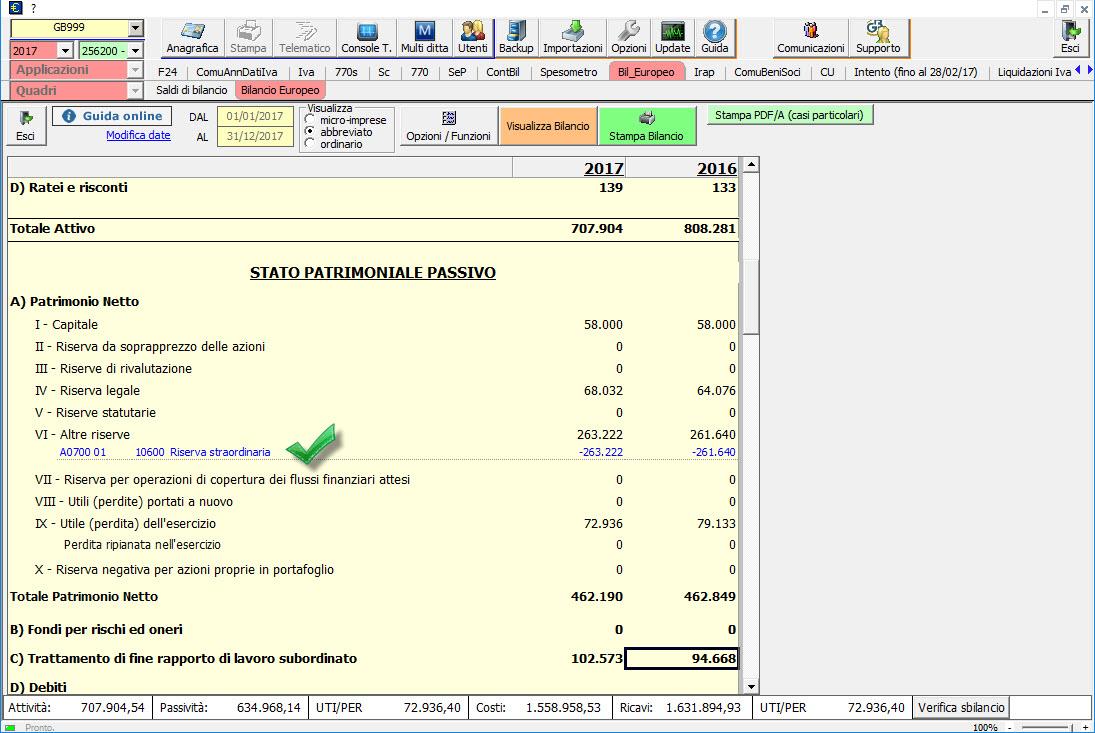 Caso pratico: Saldo del conto non corretto nel Bilancio Europeo - 7