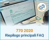 770 2020: riepilogo principali FAQ (domande frequenti)