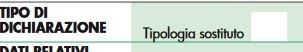 Tipologia Sostituto