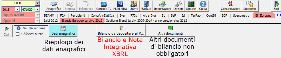 Bilanci Tardivi 2009-2014: disponibile applicazione - 8