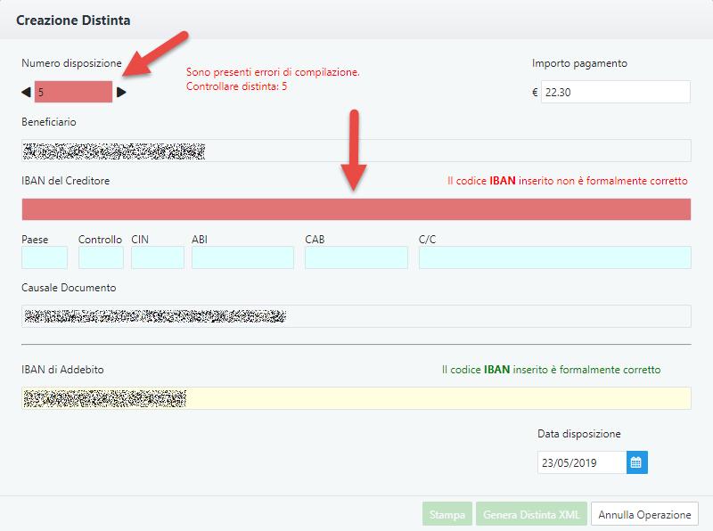 Fatture Web: creare una disposizione di bonifico da Console Web - 8