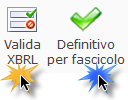 Valida XBRL / Definitivo per fascicolo