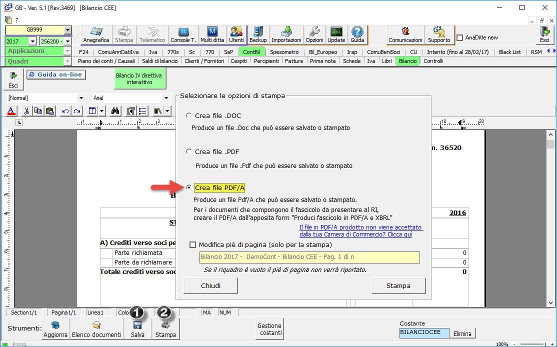 Crea file pdf/a