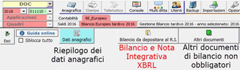 Bilancio Tardivo 2016 con tassonomia 2018: rilascio applicazione - 9