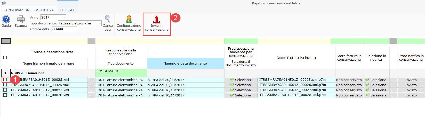 Conservazione file 2017: Dati Fatture, Liquidazioni Iva e Fatture Elettroniche - 9