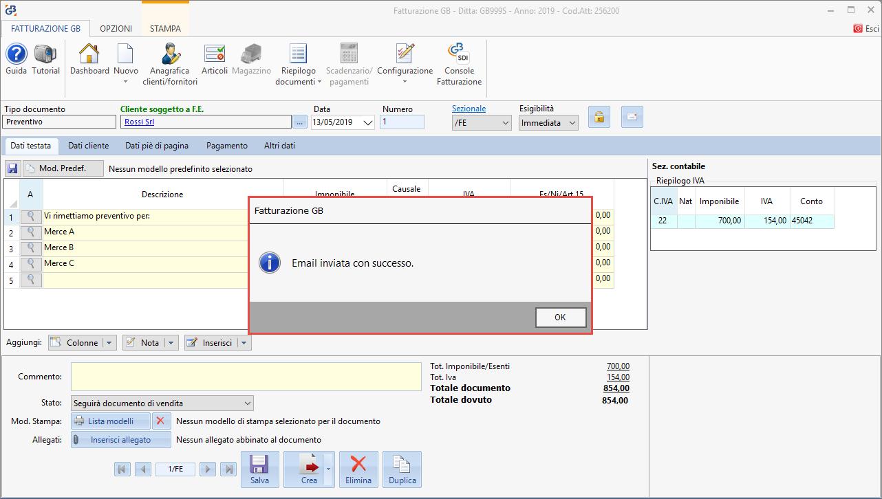 Fatture: invio documenti tramite e-mail - 9