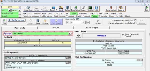 Software D.d.T. - Software Contabilità GB commercialisti ed aziende