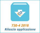 Ricezione 730-4 2018: rilascio applicazione