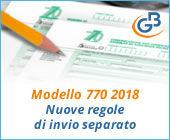 Modello 770 2018: nuove regole di invio separato