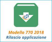 Modello 770 2018: rilascio applicazione