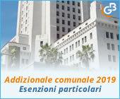 Addizionale comunale 2019: esenzioni particolari