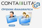 Opzioni Anagrafica Clienti Fornitori