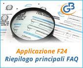 Applicazione F24 Riepilogo principali FAQ