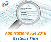 Applicazione F24 2018: gestione Filtri