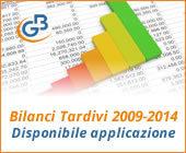 Bilanci Tardivi 2009-2014: disponibile applicazione