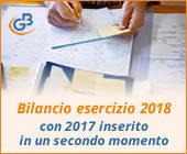 Bilancio esercizio 2018 con 2017 inserito in un secondo momento