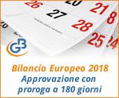 Bilancio Europeo 2018: approvazione con proroga a 180 giorni