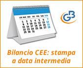 Bilancio CEE: stampa a data intermedia