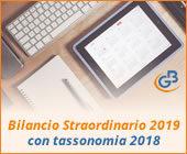 Bilancio Straordinario 2019 con tassonomia 2018: rilascio applicazione