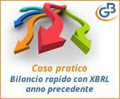 Caso pratico: Bilancio rapido con XBRL anno precedente