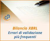 Bilancio XBRL: errori di validazione più frequenti
