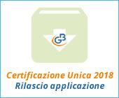 Certificazione Unica 2018: rilascio applicazione