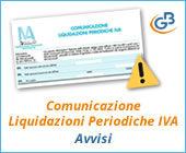 Comunicazione Liquidazioni Periodiche IVA: avvisi