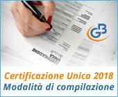 Certificazione Unica 2018: modalità di compilazione