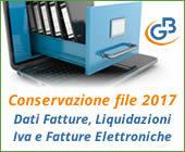 Conservazione file 2017: Dati Fatture, Liquidazioni Iva e Fatture Elettroniche