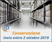 Conservazione 2018: invio entro il 2 ottobre 2019