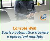 Console Web 2019: scarico automatico ricevute e operazioni multiple
