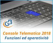 Console Telematica 2018: funzioni ed operatività