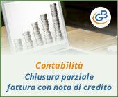 Contabilità: chiusura parziale fattura con nota di credito