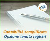 Contabilità semplificata: opzione tenuta registri