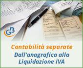 Contabilità separate: dall'anagrafica alla Liquidazione IVA