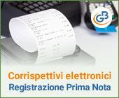 Corrispettivi elettronici: registrazione in prima nota